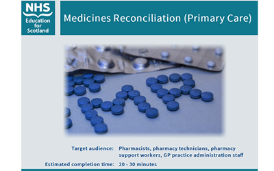 New Resource: Medicines Reconciliation (Primary Care) image